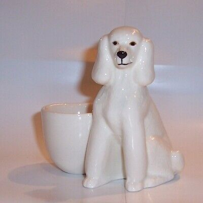 £11.99 • Buy QUAIL White Poodle With Egg Cup