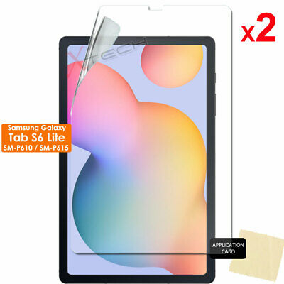 £2.95 • Buy 2x CLEAR Screen Protector Covers For Samsung Galaxy Tab S6 Lite 10.4  P610 P615