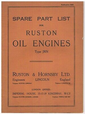 Ruston & Hornsby JRN - Parts List • 7£