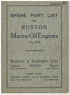 Ruston & Hornsby JRM (Marine) - Parts List • 7£