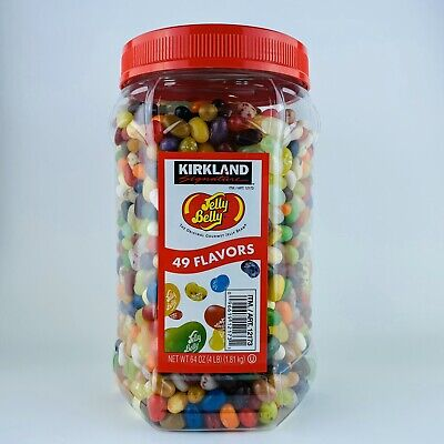 1 Jar Huge Kirkland Signature Jelly Belly Jelly Beans 49 Flavors 4 Lb/64 Oz NEW • 23.14£