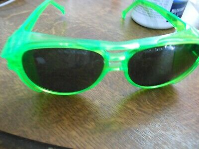 £9.95 • Buy Safety Glasses + Side Protection Tinted Green Or Yellow Ppe Use As Side  Protect