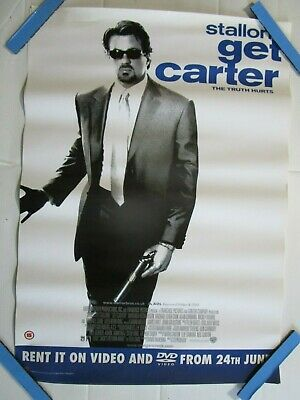 Get Carter Video Store Vhs Original Film Poster Movie • 7.25£