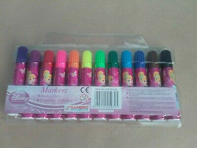 Disney Princess Cinderella Felt Pens Markers Tips Colouring Play Toy Childrens  • 1.95£