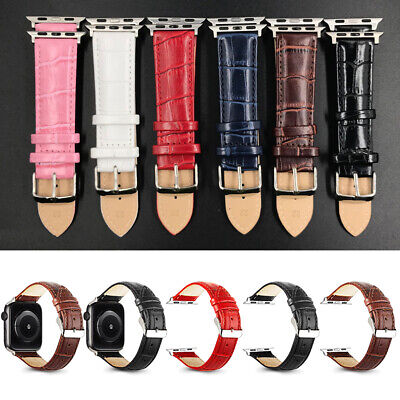 $ CDN6.50 • Buy For Apple Watch Series 6 5 4 3-1 Genuine Leather IWatch Band Strap 40/44/38/42mm