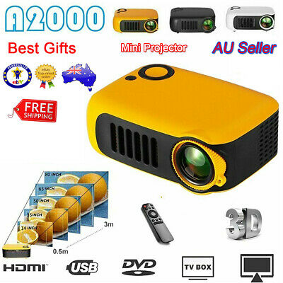AU72.99 • Buy Mini Portable Pocket Projector HD 1080P LED Home Theater Video Projector HDMI AU