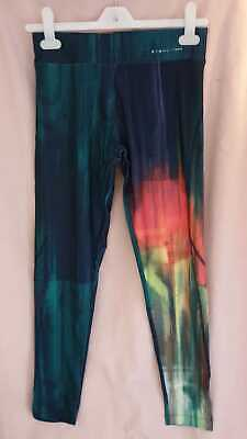 AU50.92 • Buy Oysho Cropped Sorbet Print Leggings Size Medium UK 10 LN004 NN 03
