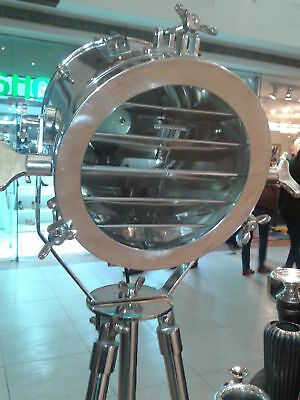 £95 • Buy Nautical Searchlight Spot Light Floor Lamp Steel Stand Home & Office Decor