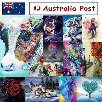 AU13.89 • Buy 5D Animal Diamond Painting Embroidery Cross Crafts Stitch Home Art Decor DIY