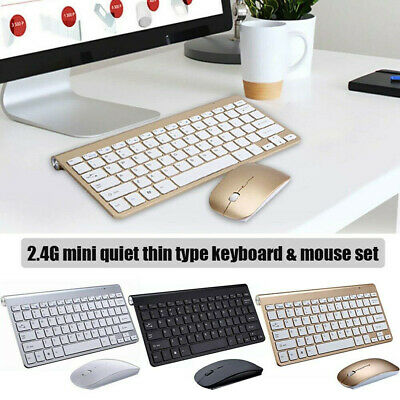 2.4Ghz Slim Wireless Bluetooth Keyboard & Mute Mouse Set For Laptop/PC/iMac • 15.27£