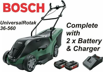 Bosch UniversalRotak 36-560 Cordless Mower With 2 X 36v Battery & Charger 550 • 419.99£