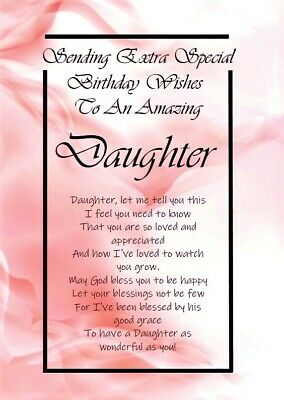 'My Darling Daughter' - A5 Card Daughter Birthday Special Love Keepsake • 3.99£