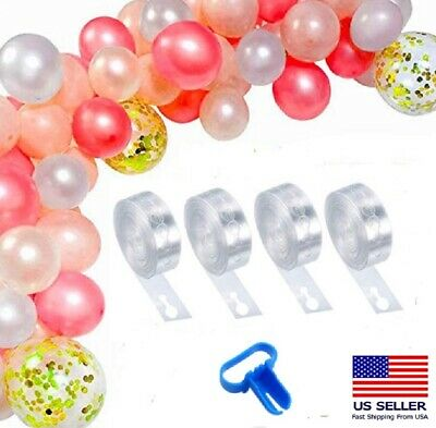 $5.49 • Buy 5m Balloon Chain Tape Arch Connect Strip For Wedding Birthday Party Decor Tools