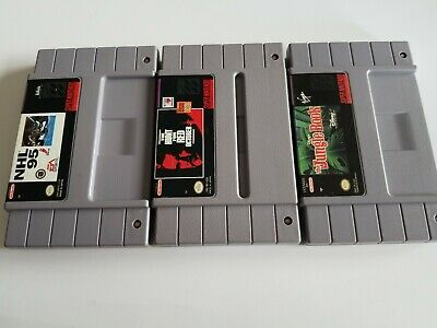 $ CDN14.95 • Buy Super Nintendo SNES 3 Game LOT Authentic OEM Cart Only Tested