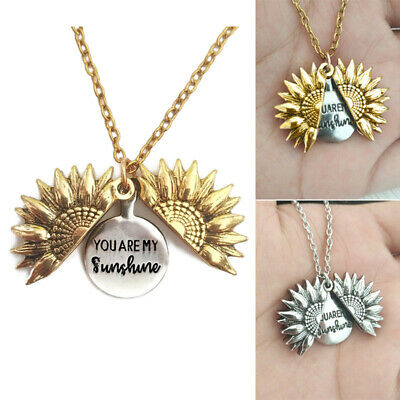 $5.99 • Buy Creative ''You Are My Sunshine'' Letter Print Sunflower Pendant Chains Necklace