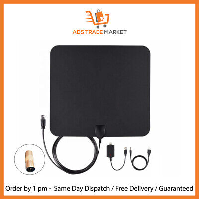 New Indoor Digital HD TV Antenna 960 Miles Amplified Free View • 18.95£