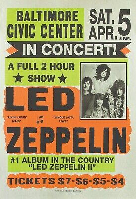 $18.95 • Buy Led Zeppelin 13  X 19  Reproduction Concert Poster Archival Quality