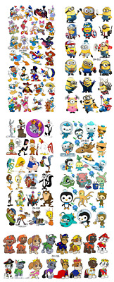 £3 • Buy New! Long Sheet Of Temporary Tattoos Choose From 21 Designs Cartoon Characters