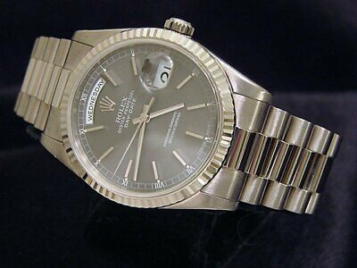$ CDN25609.10 • Buy Mens Rolex Day Date President Solid 18k White Gold Watch Slate New Style 118239