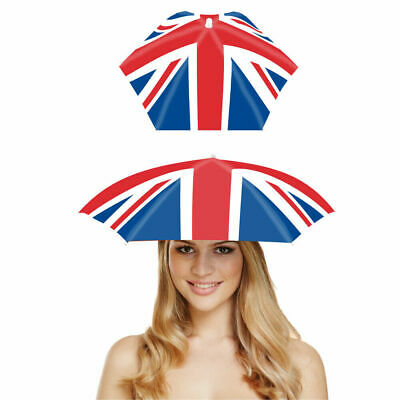 VE DAY 8TH MAY -Union Jack Umbrella Hat - Foldable Hat  • 3.50£
