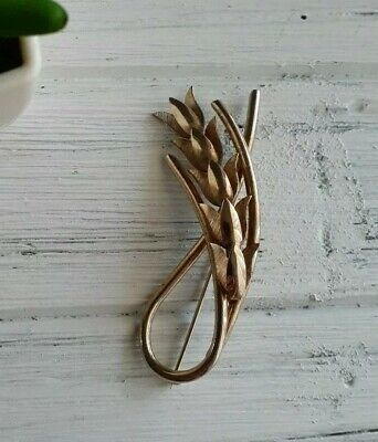 $14.50 • Buy Signed Emmons Vintage Brooch Pin Gold-tone Wheat Costume Jewelry 1960's