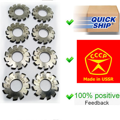 $41.95 • Buy Set 8Pcs Module M0,4 Inner Bore 13mm №1-8 HSS Involute Gear Cutters Disk-shaped