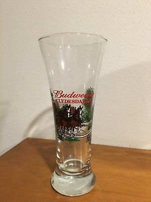 $ CDN6.33 • Buy Several 7 1/4  Tall - Budweiser Pilsner Glass Clydesdale Horses & Wagon NO Snow!