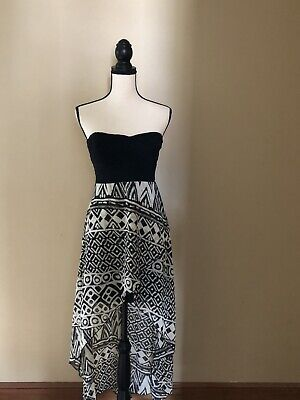 Strapless High Low Dress Tribal Pattern S • 11.58£