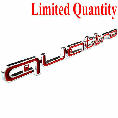 1pc Red Quattro Front Bumper Grill Badge Emblem Logo For Audi A3 A4 Q5 Q7 TT R8 • 12.95£