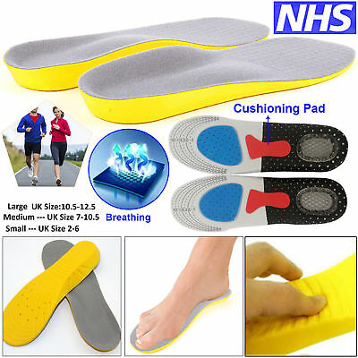 Orthotic Insoles For Arch Support Plantar Fasciitis Flat Feet Back & Heel Pain   • 3.25£