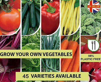 £2.95 • Buy Vegetable Seeds - Tomato - Beans - Pepper - Courgette - Carrot - Spinach - Leek