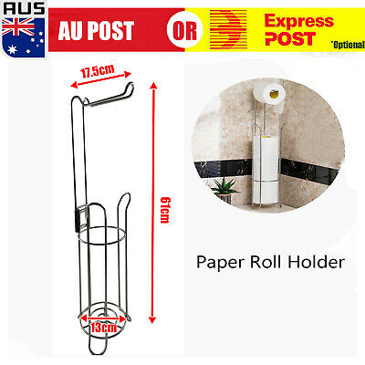 AU22.59 • Buy Vintage Free Standing Toilet Paper Roll Holder For Bathroom Storage 17x15x61cm D
