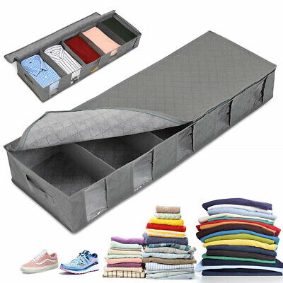 5 Compartments Large Underbed Storage Bags Clothes Shoes Organizer Boxes WS • 7.75£