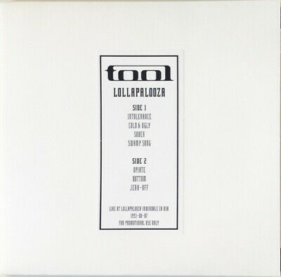 $29.99 • Buy TOOL Live At Lollapalooza 1993 LP NEW VINYL