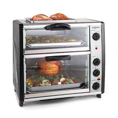 £199.99 • Buy Mini Oven Electric Kitchen Double Grill Rotisserie Barbecue 42 Litre Compact