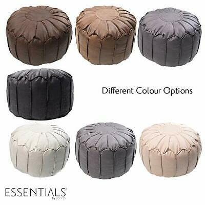 Living Room Bean Bag Moroccan Modern Footstool Faux Leather Foot Rest Pouffe • 34.97£