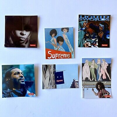 $ CDN75.76 • Buy Supreme HYPE Sticker Pack Bundle Mary J Blige Marvin Gaye Photo Tee Stickers
