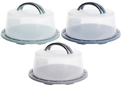 Cake Carrier Large Lockable Plastic Cake Storage Container Cake Dome With Lid • 9.99£