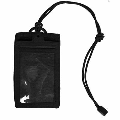 Mil-Tec ID Card Holder Security Police EDC Neck Lanyard Case Wallet Pouch Black • 6.70£