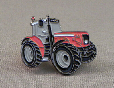 38mm Red Tractor Enamel Pin Badge - New • 4.29£
