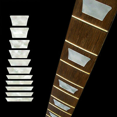 Electric Acoustic Guitar Inlay Sticker Fretboard Markers Scale Decal White NF5X2 • 1.81£
