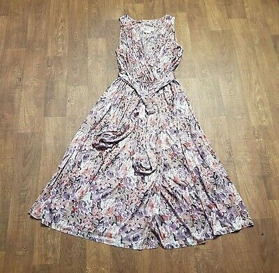 AU222.84 • Buy 1970s Vintage Radley Floaty Floral Dress UK Size 12/14/16 Vintage Clothing