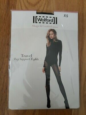 Wolford 14622 Travel Leg Support Tights, Midnight, Size XS • 18.08£