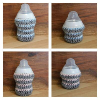 £3.66 • Buy HANDMADE CROCHET BABY BOTTLE COVER TT 9oz And 5oz PERSONALIZED OR IN BOX Option