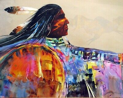 £7.24 • Buy Abstract Native American Tribe Leader 16x20 Poster