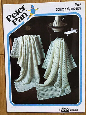 Vintage Patons Knitting And Crochet Pattern For Baby's Shawls . • 2.50£