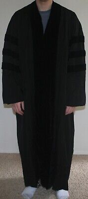 £56.65 • Buy Vintage Cap & Gown Co. Of Cali Black Doctoral Academic Graduation Robe Gown