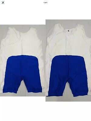 $50 • Buy Custom Pro Wrestling Singlet XL 42 White/blue