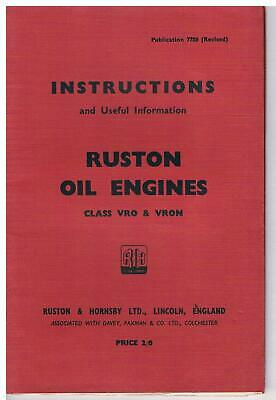 Ruston & Hornsby VRO & VRON Oil Engines - Instructions • 9£