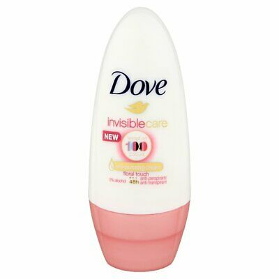 3 X Dove Invisible Care Roll On 50ml Each Floral Touch Anti-Perspirant Deodorant • 7.85£